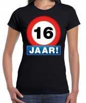 16e verjaardag stopbord shirt kleding 16 jaar zwart voor dames kopen