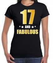 17 and fabulous verjaardag cadeau shirt kleding 17 jaar zwart met goud voor dames kopen