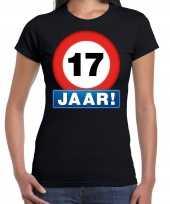17e verjaardag stopbord shirt kleding 17 jaar zwart voor dames kopen