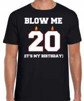 20 jaar blow me its my birthday shirt 20ste verjaardag kado zwart voor heren kopen