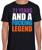 21 year cadeau verjaardag t-shirt zwart voor heren kopen