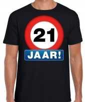 21e verjaardag stopbord shirt kleding 21 jaar zwart voor heren kopen