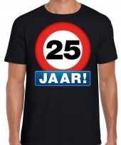 25e verjaardag stopbord shirt kleding 25 jaar zwart voor heren kopen