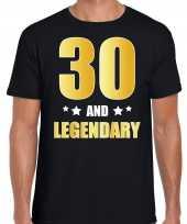 30 and legendary verjaardag cadeau shirt kleding 30 jaar zwart met goud voor heren kopen