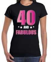 40 and fabulous verjaardag kado shirt kleding 40 jaar zwart voor dames kopen