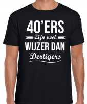 40 jaar verjaardags shirt kleding 40ers zijn veel wijzer dan dertigers zwart voor heren kopen