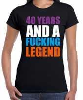 40 year cadeau verjaardag t-shirt zwart voor dames kopen
