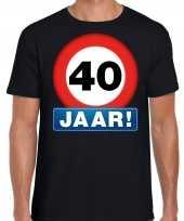 40e verjaardag stopbord shirt kleding 40 jaar zwart voor heren kopen