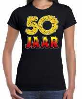 50 jaar emoticon fun sarah shirt dames zwart kopen