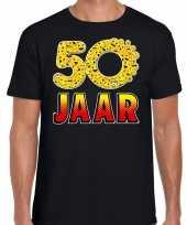 50 jaar funny emoticon shirt heren zwart kopen