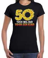 50 toch wel oud voor een kind emoticon fun sarah shirt dames zwart kopen
