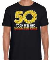 50 toch wel oud voor een kind funny emoticon shirt heren zwart kopen