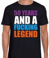 50 year cadeau verjaardag t-shirt zwart voor heren kopen