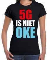 5g internet is niet oke protest betoging shirt zwart voor dames kopen