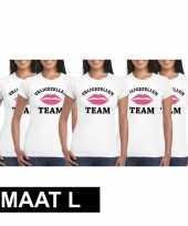 5x vrijgezellenfeest-shirt voor dames maat l kopen