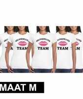 5x vrijgezellenfeest-shirt voor dames maat m kopen
