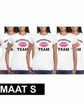 5x vrijgezellenfeest-shirt voor dames maat s kopen