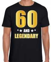 60 and legendary verjaardag cadeau shirt kleding 60 jaar zwart met goud voor heren kopen