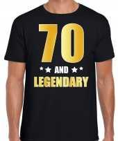 70 and legendary verjaardag cadeau shirt kleding 70 jaar zwart met goud voor heren kopen