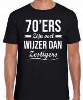 70 jaar verjaardags shirt kleding 70ers zijn veel wijzer dan zestigers zwart voor heren kopen