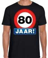 80e verjaardag stopbord shirt kleding 80 jaar zwart voor heren kopen