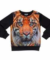All over print crewneck sweater met tijger voor kinderen kopen