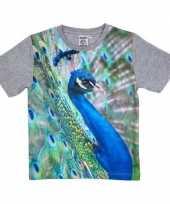 All over print t-shirt met pauw voor kinderen kopen