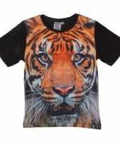 All over print t-shirt met tijger voor kinderen kopen