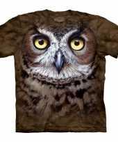 All over print t-shirt met uil kopen