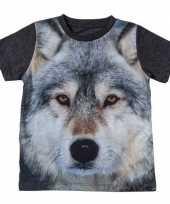 All over print t-shirt met wolf voor kinderen kopen