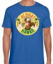 Aloha hawaii shirt beach party outfit kleding blauw voor heren kopen
