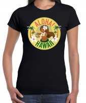 Aloha hawaii shirt beach party outfit kleding zwart voor dames kopen