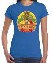 Aloha tiki bar hawaii shirt beach party outfit kleding blauw voor dames kopen