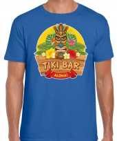 Aloha tiki bar hawaii shirt beach party outfit kleding blauw voor heren kopen