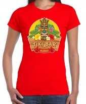 Aloha tiki bar hawaii shirt beach party outfit kleding rood voor dames kopen