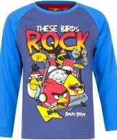 Angry birds shirt lange mouw blauw voor jongens kopen