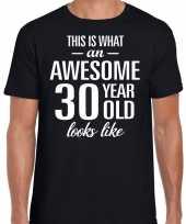 Awesome 30 year verjaardag cadeau t-shirt zwart voor heren kopen