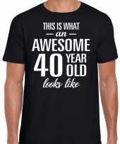 Awesome 40 year verjaardag cadeau t-shirt zwart voor heren kopen