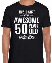 Awesome 50 year verjaardag cadeau t-shirt zwart voor heren kopen