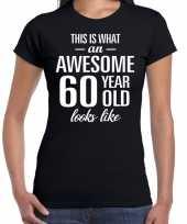 Awesome 60 year verjaardag cadeau t-shirt zwart voor dames kopen