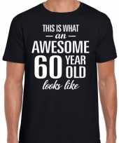 Awesome 60 year verjaardag cadeau t-shirt zwart voor heren kopen