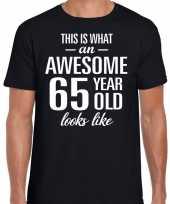 Awesome 65 year verjaardag cadeau t-shirt zwart voor heren kopen