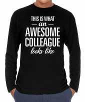 Awesome colleague collega cadeau shirt zwart voor heren kopen