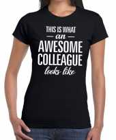 Awesome colleague fun t-shirt zwart voor dames kopen