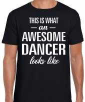 Awesome dancer dansers cadeau t shirt zwart voor heren kopen