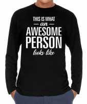 Awesome person persoon cadeau shirt zwart voor heren kopen