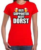 Belgie fan bier shirt kleding deze supporter heeft dorst dames kopen
