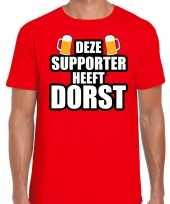 Belgie fan bier shirt kleding deze supporter heeft dorst heren kopen