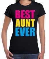 Best aunt ever beste tante ooit fun verjaardag t-shirt zwart voor dames kopen
