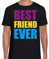 Best friend ever beste vriend ooit fun verjaardag t-shirt zwart voor heren kopen